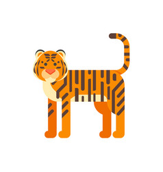 flat style of tiger vector image