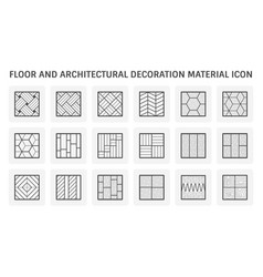 Floor and architecture decoration material icon vector