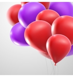 flying realistic glossy balloons vector image