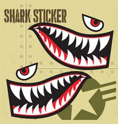 Flying tiger shark mouth sticker vinyl 13 vector