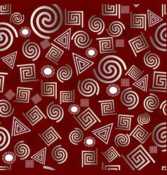 greek memphis geometric seamless pattern vector image