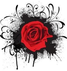 grunge rose vector image