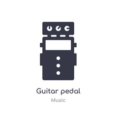 Guitar pedal outline icon isolated line from vector