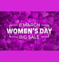 happy womens day big sale vector image