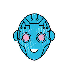 Head in interface and cyberspace system connection vector