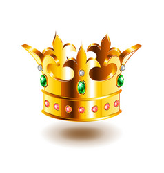 Heraldic crown isolated on white vector