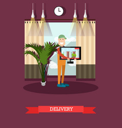 Home delivery concept in flat vector