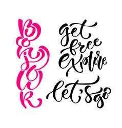 inspirational calligraphy set modern print vector image