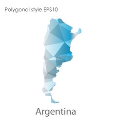 Isolated icon argentina map polygonal vector
