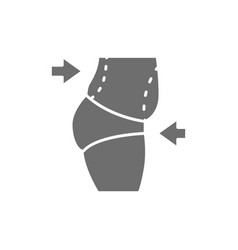 Liposuction of abdomen tummy tuck plastic vector