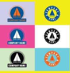 Logo paper plane vector