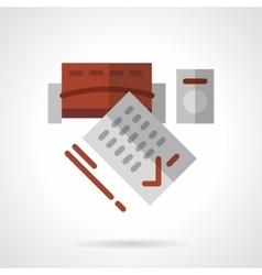 Long-term rental flat icon vector