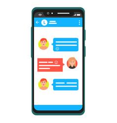 messenger chatting on smartphone vector image