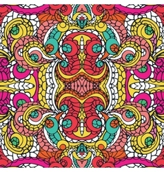 multicolor swirl ethnic seamless patternabstract vector image