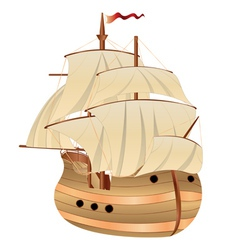 Old sailing ship vector