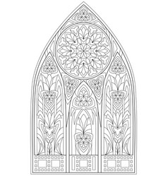 Page with black and white drawing beautiful vector