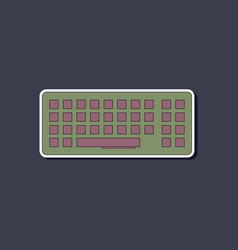 Paper sticker on background of computer keyboard vector