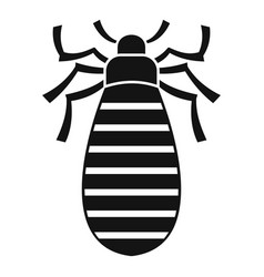 Pest bug icon simple style vector