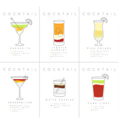 Poster cocktails margarita vector