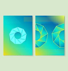 precious stone poster set vector image