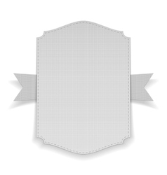 Realistic white Banner on Ribbon vector