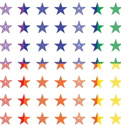 Retro stars seamless pattern vector