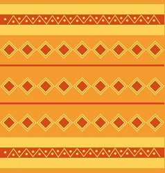 rhombus tribal ethnic wallpaper pattern design vector image