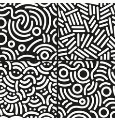 Set abstract backgrounds vector
