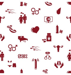sex theme simple red icons seamless pattern eps10 vector image