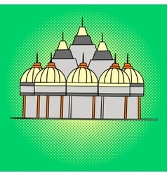 Shri Swaminarayan Mandir pop art vector image