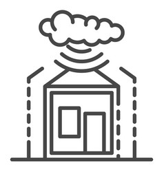 Smart weather warning icon outline style vector
