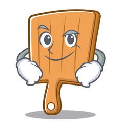 Smirking kitchen board character cartoon vector