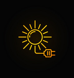 Solar energy colorful icon vector