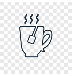 tea concept linear icon isolated on transparent vector image