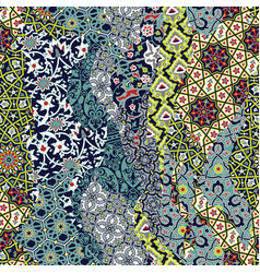 Traditional arabian arabesque tiles patchwork vector