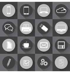 Universal Outline Icons For Web and mobile in flat vector image vector image