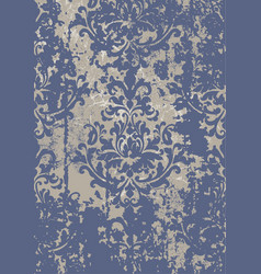 Vintage damask grunge ornament floral decoration vector