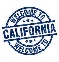 Welcome to california blue stamp vector