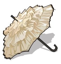 Womens vintage white umbrella vector