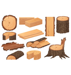 wood industry raw materials realistic high vector image