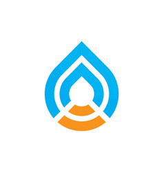 abstract waterdrop logo image vector image vector image
