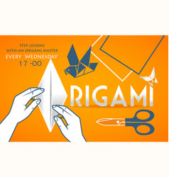 banner cover for origami vector image vector image