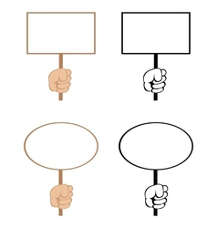 blank signs vector image vector image