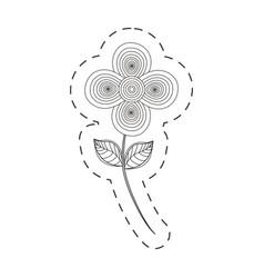 flower decoration cut line vector image
