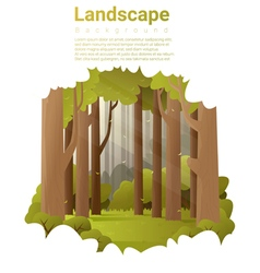 Forest landscape background vector image