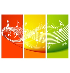 fresh music theme vector image vector image