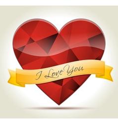 I Love You heart diamond vector image vector image