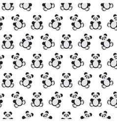 Panda bear pattern vector image