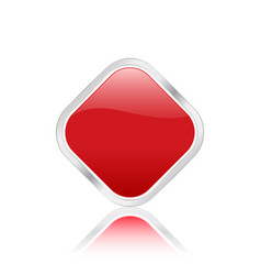 rhomb icon red vector image