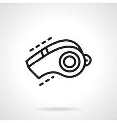 Sport whistle simple line icon vector image
